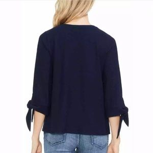 Vince Camuto Tops - Vince Camuto | Navy Blue Bow Sleeve Blouse